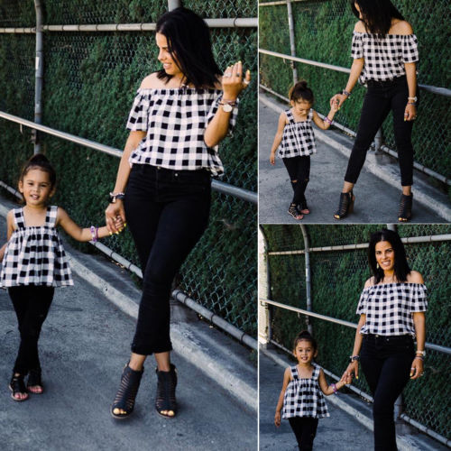 Pretty Matching Mother and Daughter Tops 3