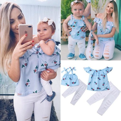 Classic Matching Mother and Daughter Tops 1