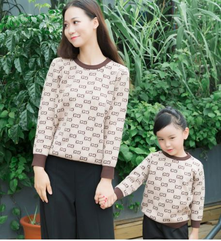 Stylish Matching Sweater for Mother and Daughter 3