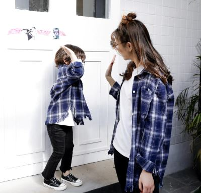 Classic Matching Shirt for Mother and Daughter 3