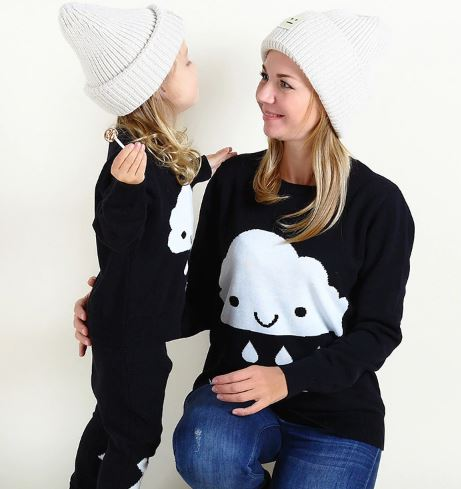 Cute Cozy Mother and Daughter Matching Sweater 1
