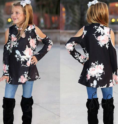 Classic Floral Mother and Daughter Matching Tops 3