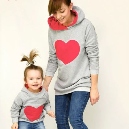 Adorable Mommy and Me Sweater with Perfect Hoodie 1