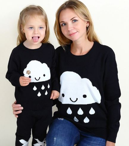 Cute Cozy Mother and Daughter Matching Sweater 2