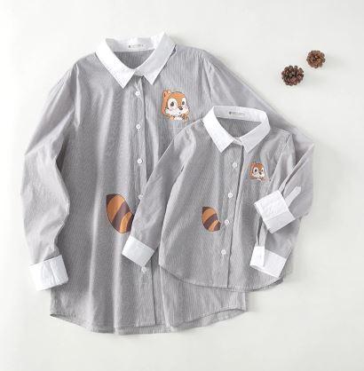 Cartoon Print Mother and Daughter Matching Shirt 1