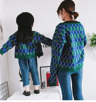 Classic Matching Sweater for Mommy and Daughter 2
