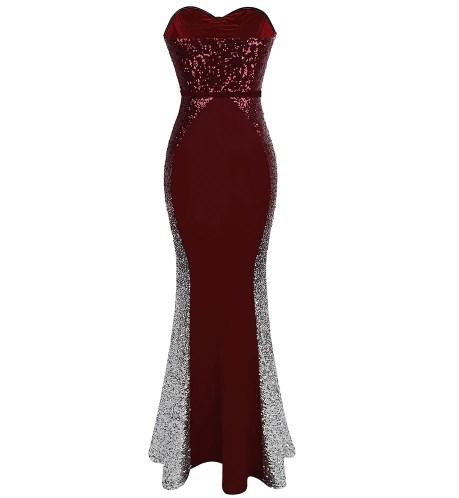 Deluxe Sweetheart Gradient Sequin Prom Dress 3