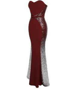 Deluxe Sweetheart Gradient Sequin Prom Dress