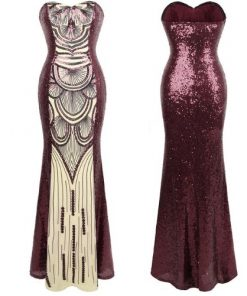 Fashion Chic Vintage Sequin Prom Dress