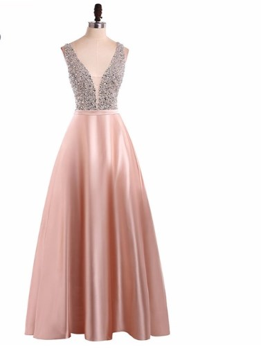 Voguish Uptown-Girl Backless Prom Dress 1