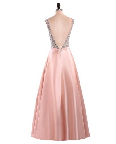 Voguish Uptown-Girl Backless Prom Dress 3