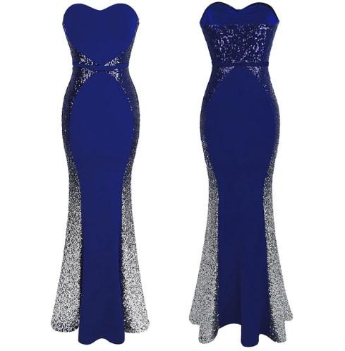 Trumpet Gradient Sequin Prom Dress 1