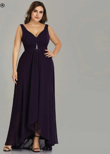 Gracious A-line  Plus-Size Prom Dress 1