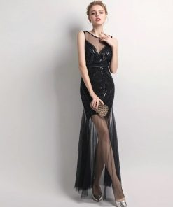 Edgy Sequins Beading Prom Day Dress