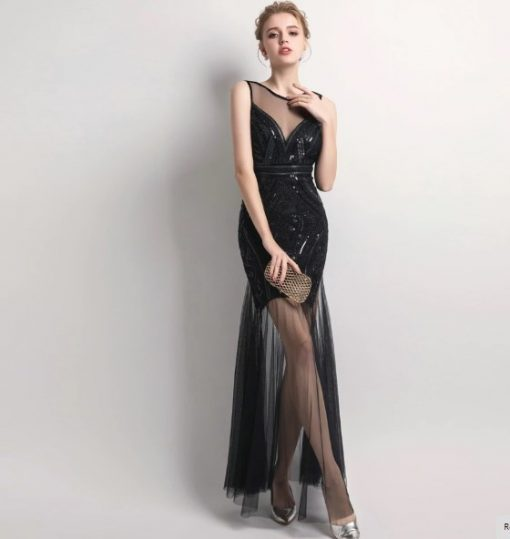 Edgy Sequins Beading Prom Day Dress 1