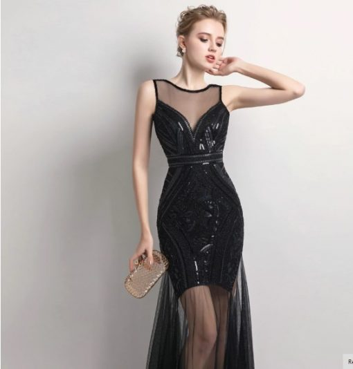 Edgy Sequins Beading Prom Day Dress 2