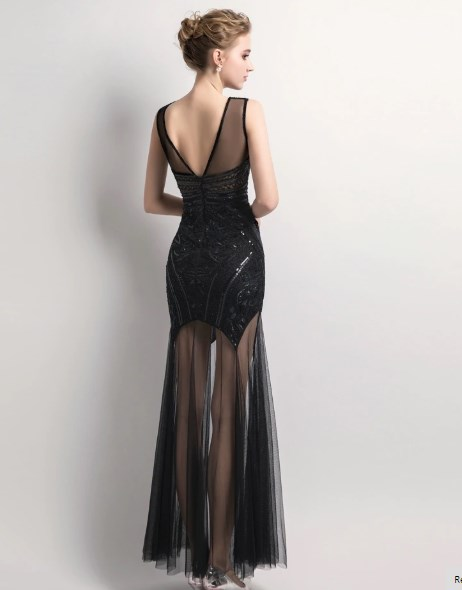 Edgy Sequins Beading Prom Day Dress 3