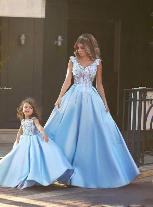 Mommy and Daughter Elegant Evening Dress 2