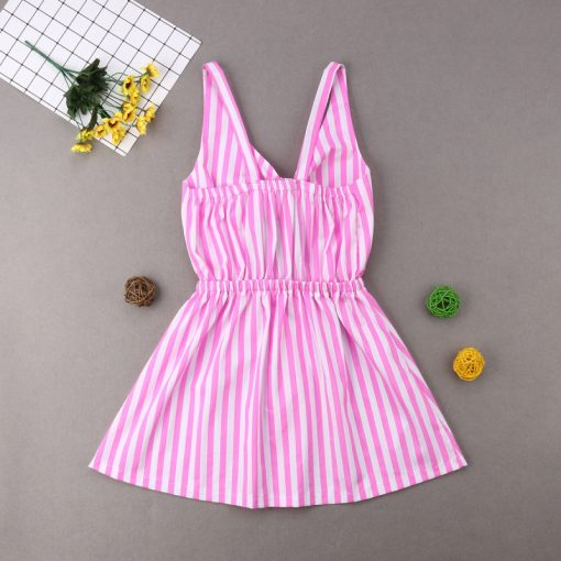 Mother and Daughter Beautiful Striped Dress 3