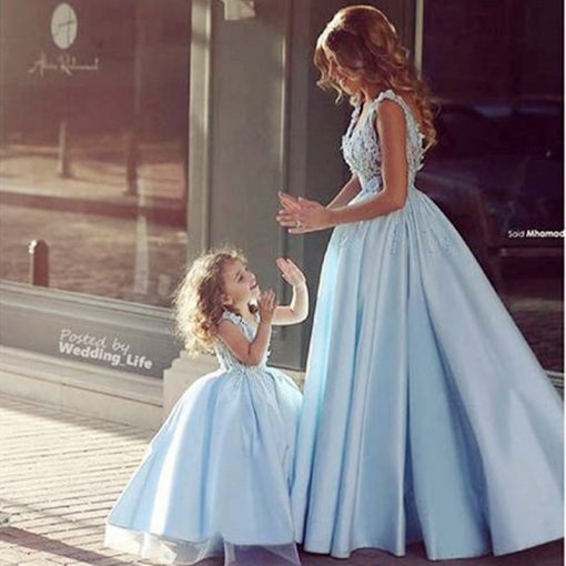 Mommy and Daughter Elegant Evening Dress 1