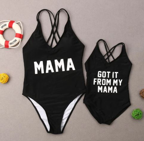 Amazing Beach Swimsuit for Mommy and Me 1