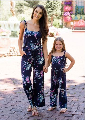 Mother and Daughter Easter Matching Romper 1