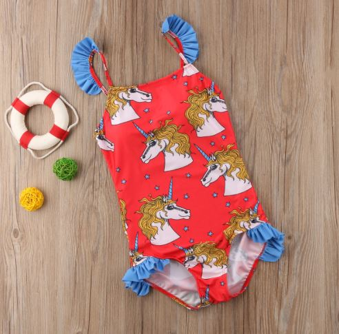 Mommy and Me Unicorn Matching Swimsuit 2