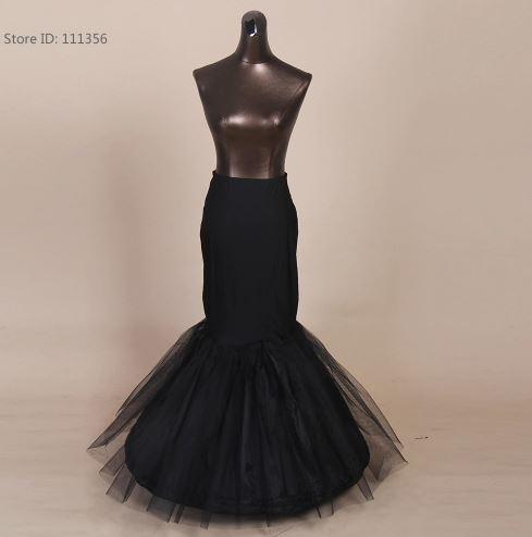 Black Mermaid Crinoline Skirt For Women 1