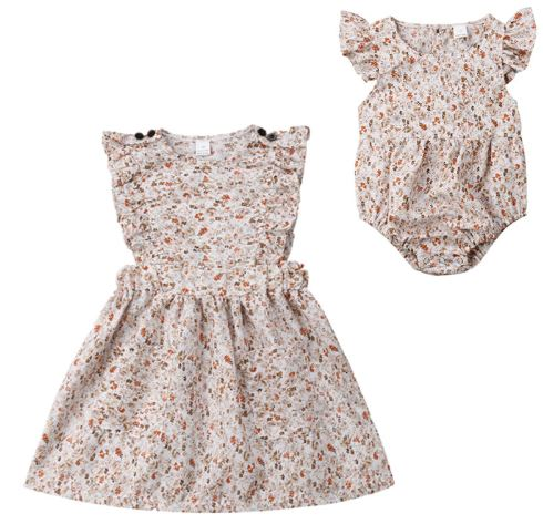 Floral Matching Sibling Easter Dress 1