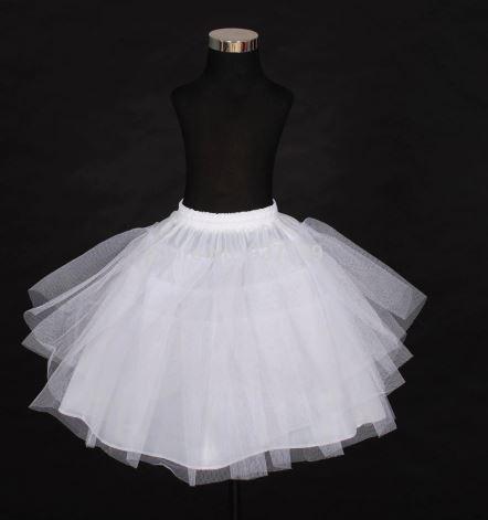 Short-Length Crinoline Skirts for Kids 1