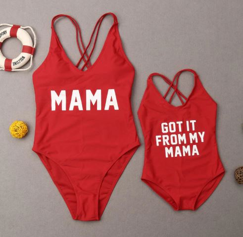 Matching Swimsuit for Mother and Daughter 1
