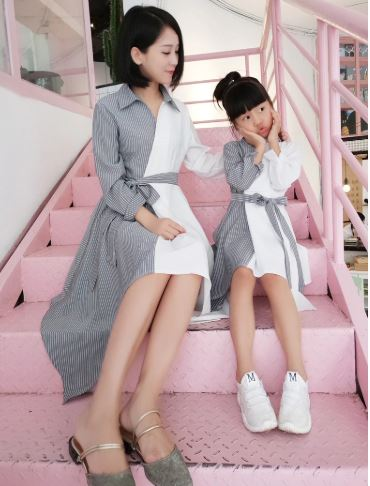 Adorable Mommy and Daughter Outfit 1