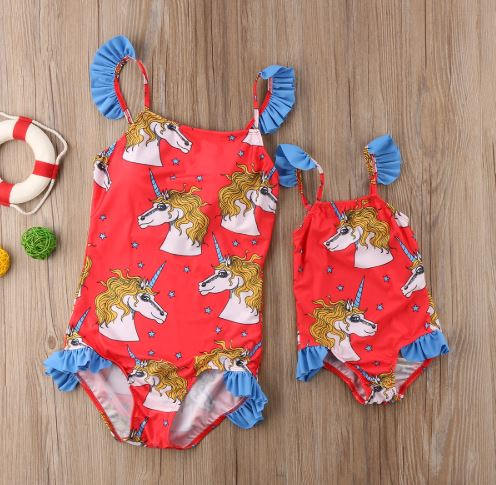 Mommy and Me Unicorn Matching Swimsuit 1