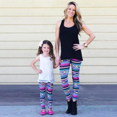 Matching Leggings for Mom and Daughter