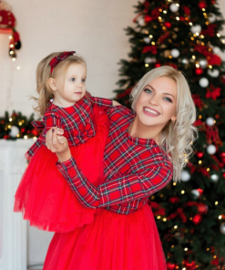 Adorable Christmas Dress for Mother & Daughter