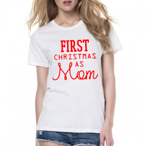 Baby and Mommy First Christmas Matching T-Shirt! 1