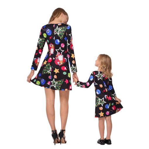 Beautiful Mother Daughter Matching Dress for Christmas 3