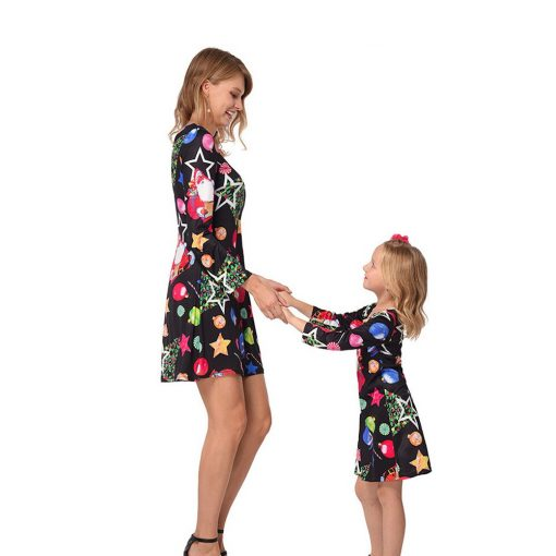 Beautiful Mother Daughter Matching Dress for Christmas 2