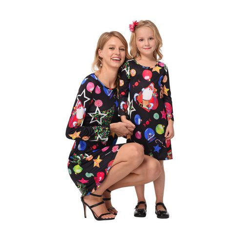 Beautiful Mother Daughter Matching Dress for Christmas 1