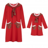 Brand New Mother Daughter Santa Themed Dress 6