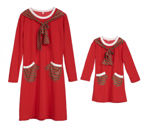Brand New Mother Daughter Santa Themed Dress 3