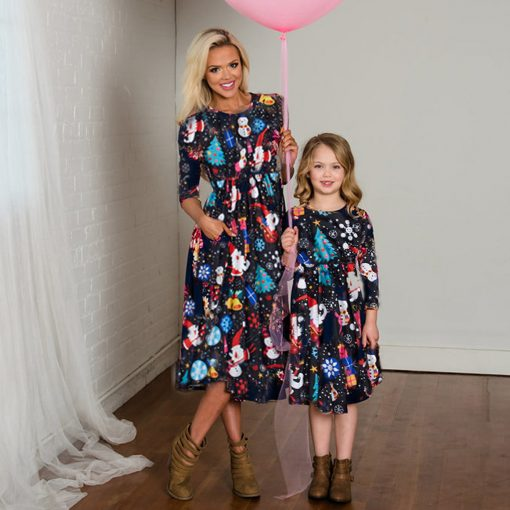 Precious Mother Daughter Christmas Dress 2