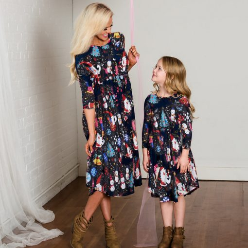 Precious Mother Daughter Christmas Dress 1